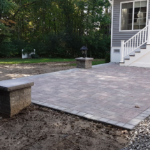 raised patio with pillars 2 copy