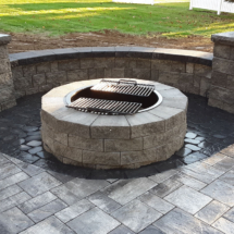 sitting wall with fire pit copy